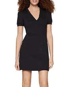 BCBGENERATION - Puff-Sleeve Fit-and-Flare Dress
