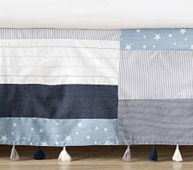 Pottery Barn Max Star Patchwork Crib Skirt