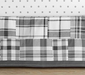 Pottery Barn Madras Crib Skirt