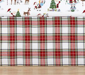 Pottery Barn Plaid Crib Skirt