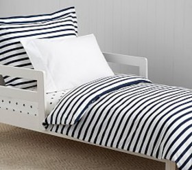 Pottery Barn Organic Breton Stripe Toddler Duvet C