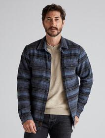 Lucky Brand Jacquard Long Sleeve Shirt Jacket