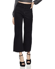 BCBGENERATION - Raw-Edge Cropped Wide-Leg Jeans in
