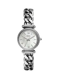 Fossil Carlie Mini Stainless Steel & Crystal Brace