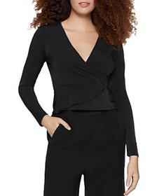 BCBGENERATION - Jersey Faux-Wrap Top