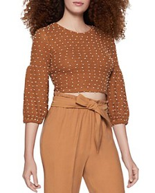 BCBGENERATION - Balloon-Sleeve Cropped Top