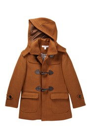 Isaac Mizrahi Wool Blend Toggle Hooded Coat (Toddl
