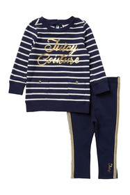 Juicy Couture Striped Tunic & Leggings Set (Baby G