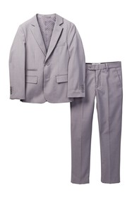 Isaac Mizrahi Slim Fit Micro Gingham 2-Piece Suit
