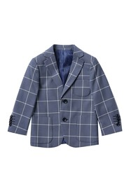 Isaac Mizrahi Single Plaid Print Blazer (Toddler &