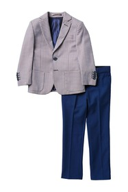 Isaac Mizrahi 3-Piece Gingham Suit Set (Toddler &