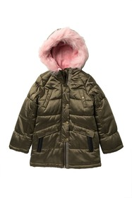 Jessica Simpson Expedition Faux Fur Trimmed Parka