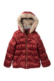 Jessica Simpson Faux Fur Lined Puffer Jacket (Big