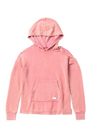 7 For All Mankind Cold Shoulder Pullover Hoodie (B