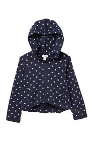 Splendid Dot Print Hoodie (Toddler Girls)