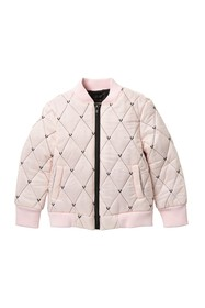 True Religion Logo Quilted Bomber Jacket (Little G