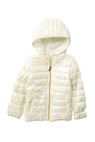 Jessica Simpson Holographic Puffer Jacket (Toddler