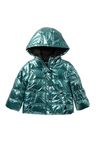 Jessica Simpson Metallic Faux Fur Lined Puffer Jac