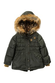 Jessica Simpson Faux Fur Quilted Star Jacket (Litt