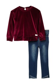 7 For All Mankind Velour Shirt & Leggings Set (Tod