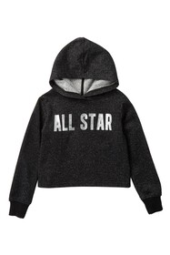 Converse All Star Cropped Hoodie (Little Girls)