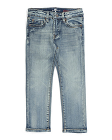 7 FOR ALL MANKIND Boys Slimmy Denim 5 Pocket Jeans