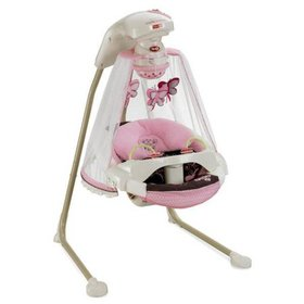 Fisher Price Butterfly Baby Cradle & Swing - Mocha