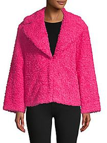 Thora Oversized Faux Fur Jacket BRIGHT PINK