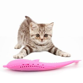 Cat Catnip Toys, Interactive Cat Fish Shape Toothb