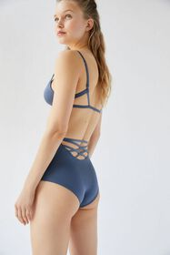Out From Under Purple Shimmer Strappy Back High-Wa