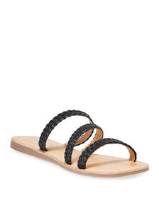 Splendid Thora Braided Leather Flat Sandals