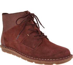 Clarks Collection Leather Lace-up Ankle Boots - Ta