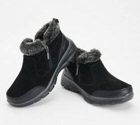 Skechers Quilted Faux Fur Trim Booties - Easy Goin