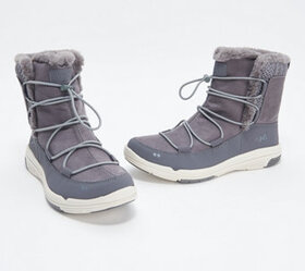 Ryka Water-Repellant Faux Fur Bungee Boots - Aubon
