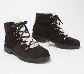 Marc Fisher Lace-Up Booties - Hobson - A371539