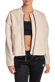 adidas Faux Shearling Mixed Media Jacket