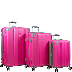 Dejuno Kingsley 3 Piece Hardside Spinner Luggage S