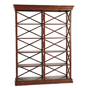 Bourdonnais Double Bookcase Tall - Mahogany