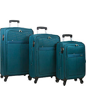 Dejuno Tuscany 3 Piece Lightweight Spinner Luggage