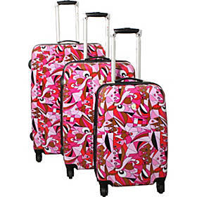 Dejuno Pop Art 3-Piece Lightweight Hardside Luggag
