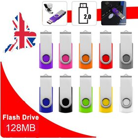 Mixed Colors Foldable 128MB USB 2.0 Flash Usb Flas