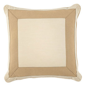 Outdoor Bordered Pillow Cover - Select Colors