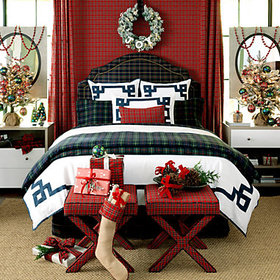 Suzanne Kasler Plaid Drapery Panel - Red