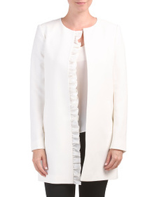 TAHARI BY ASL Ruffle Front Topper