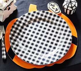Pottery Barn Gingham Charger