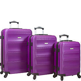 Dejuno Helix 3 Piece Hardside Spinner Luggage Set