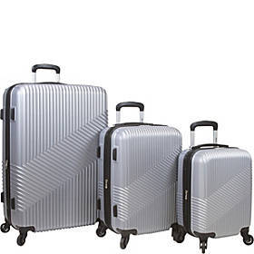 Dejuno Troy 3 Piece Hardside Spinner Luggage Set