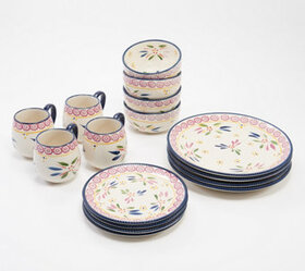 """As Is"" Temp-tations Old World 16-Piece Dinnerware"
