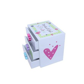 Kids Jewelry Box - Colorful Flower Compartment Dra