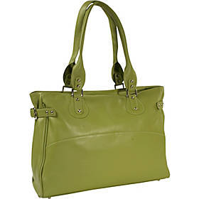 Piel Ladies Large Side Strap Laptop Tote